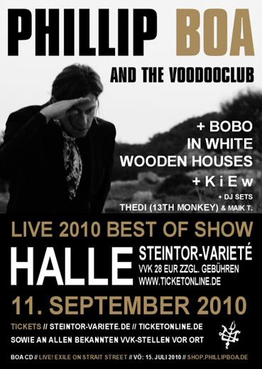 phillip boa bobo in white wooden houses kiew steintor variete halle 2010
